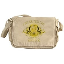 I Wear Yellow for my Sister (floral) Messenger Bag
