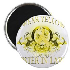 I Wear Yellow for my Sister In Law (floral) Magnet