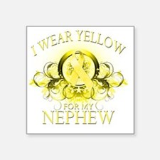 """I Wear Yellow for my Nephew Square Sticker 3"""" x 3"""""""