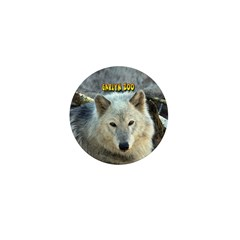 Gray Wolf Mini Button (100 pack)