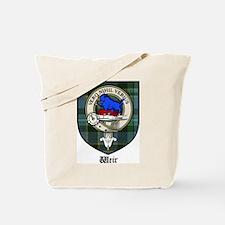 Weir Clan Crest Tartan Tote Bag