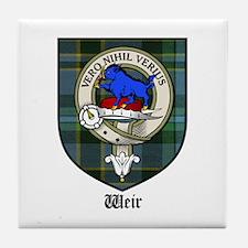 Weir Clan Crest Tartan Tile Coaster
