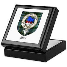 Weir Clan Crest Tartan Keepsake Box