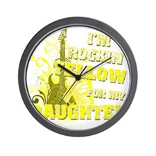 Im Rockin Yellow for my Daughter Wall Clock