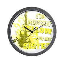 Im Rockin Yellow for my Sister Wall Clock