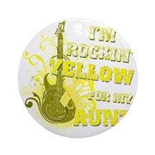 Im Rockin Yellow for my Aunt Round Ornament