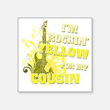 "Im Rockin Yellow for my Cou Square Sticker 3"" x 3"""