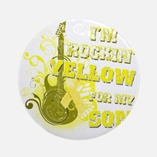 Im Rockin Yellow for my Son Round Ornament