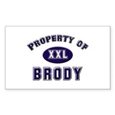 Property of brody Rectangle Decal