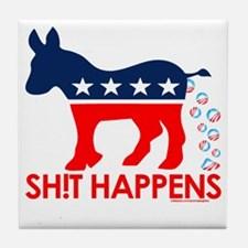 Obama - SH!T HAPPENS Tee Tile Coaster