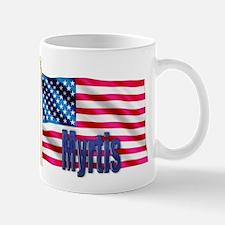 Myrtis American Flag Gift Mug