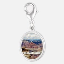 Grand Canyon Silver Oval Charm