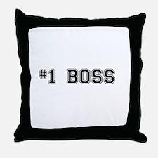 #1 Boss Throw Pillow