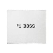 #1 Boss Throw Blanket