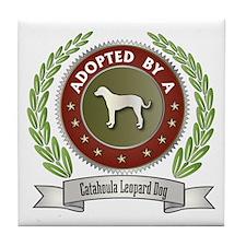 Catahoula Adopted Tile Coaster