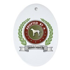 Catahoula Adopted Oval Ornament