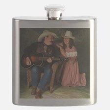 Marshal Bailey and Cowgirl Janey color Flask