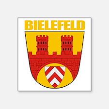 """Bielefeld COA (gold) Square Sticker 3"""" x 3"""""""