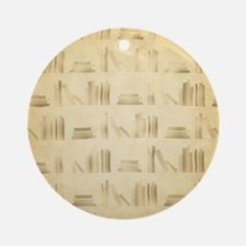 Books Pattern, Old Look Style. Ornament (Round)