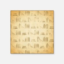 Books Pattern, Old Look Style. Sticker