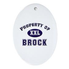 Property of brock Oval Ornament