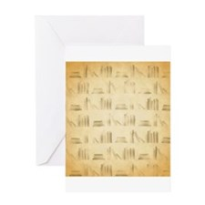 Books Pattern, Old Look Style. Greeting Cards