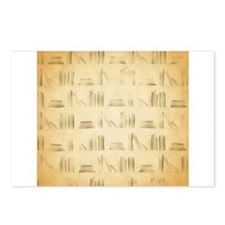 Books Pattern, Old Look Style. Postcards (Package