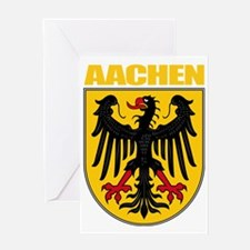 Aachen (gold) Greeting Card