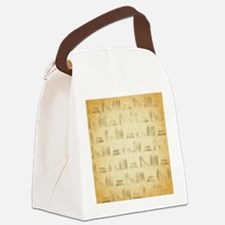 Books Pattern, Old Look Style. Canvas Lunch Bag