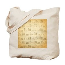 Books Pattern, Old Look Style. Tote Bag