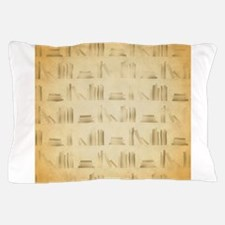 Books Pattern, Old Look Style. Pillow Case