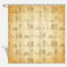 Books Pattern, Old Look Style. Shower Curtain
