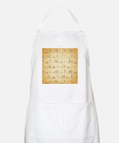 Books Pattern, Old Look Style. Apron