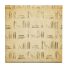 Books Pattern, Old Look Style. Tile Coaster