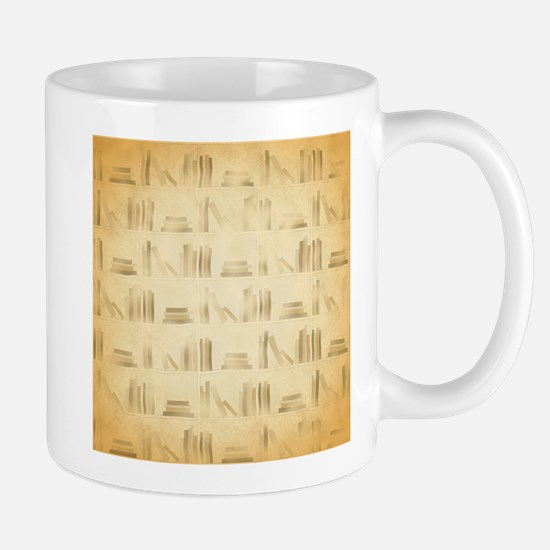 Books Pattern, Old Look Style. Mugs