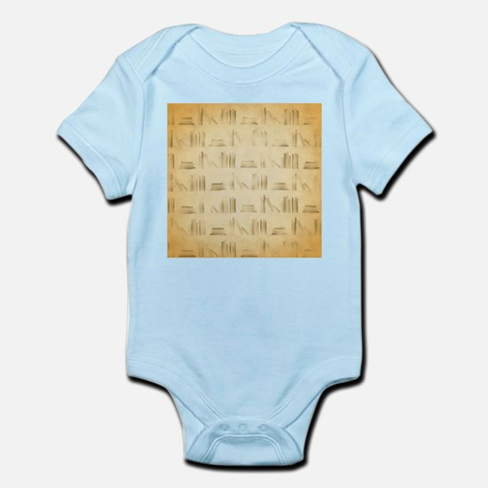 Books Pattern, Old Look Style. Body Suit