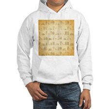 Books Pattern, Old Look Style. Hoodie