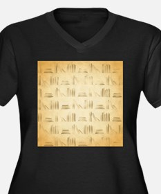 Books Pattern, Old Look Style. Plus Size T-Shirt