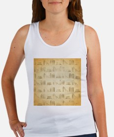 Books Pattern, Old Look Style. Tank Top