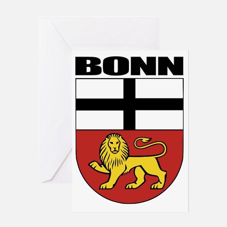 Bonn (blk) Greeting Card