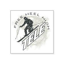 "free heel high 2 Square Sticker 3"" x 3"""