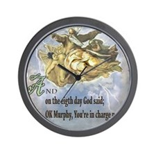 the 8th day of creation Wall Clock