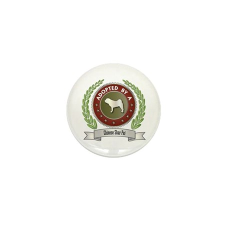 Shar-Pei Adopted Mini Button (10 pack)