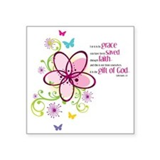 "by-grace Square Sticker 3"" x 3"""