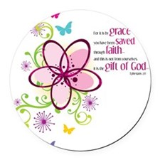 by-grace Round Car Magnet