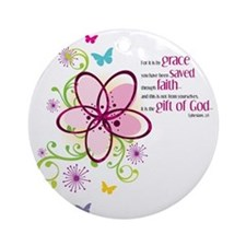 by-grace Round Ornament