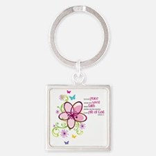 by-grace Square Keychain