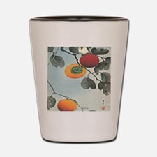 Nuthatch bird and three persimmons iPad Shot Glass
