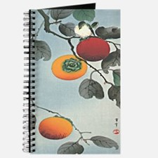 Nuthatch bird and three persimmons iPad 2  Journal