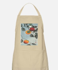 Nuthatch bird and three persimmons iPad 2 Ca Apron